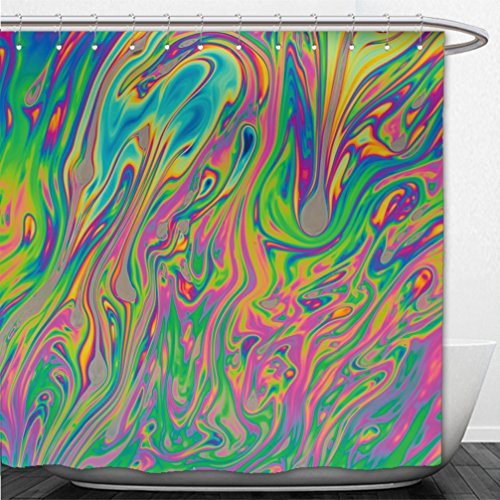 Interestlee Shower Curtain psychedelic multicolored soap bubble abstract background 366735026