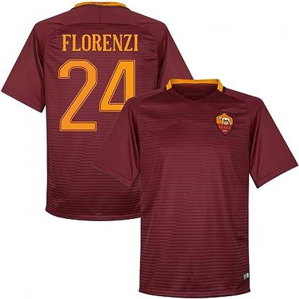 2016 2017 AS Roma Trikot 24 Alessandro Florenzi Home Football ...