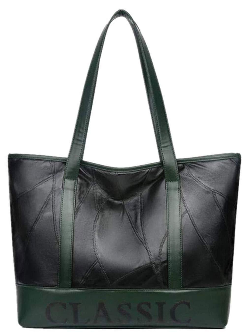 LEOO Frauen Top Griff Satchel Handtaschen Schultertasche Tote Purse Messenger Bags (Farbe   Grün) B07PYTQTV2 Umhngetaschen Eleganter Stil