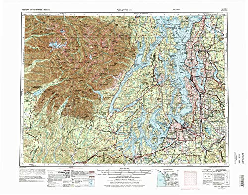 Historical 27.1 x 22.2 in 1:24000 Scale 1982 YellowMaps HOH Head WA topo map 7.5 X 7.5 Minute Updated 1982