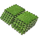 Amazon Com Above Edge Interlocking Grass Deck Tiles