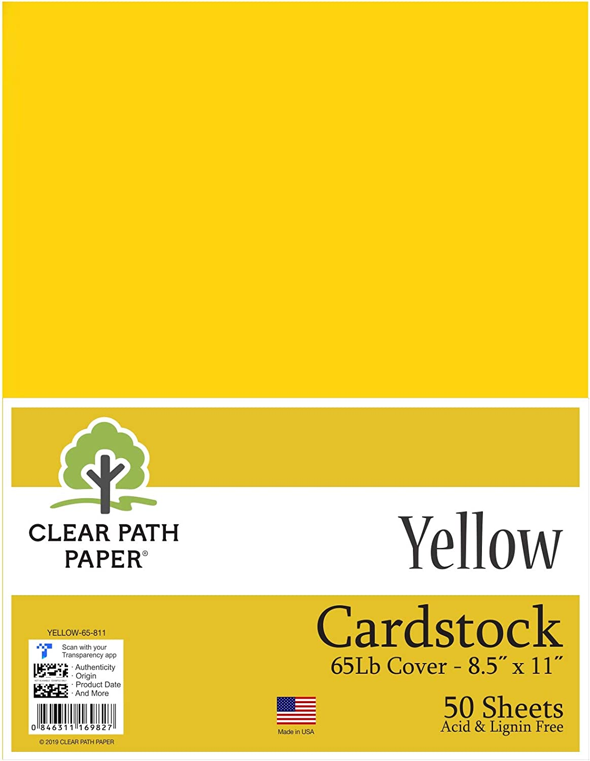 Color amarillo cartulina – 8,5 x 11 pulgadas – 65LB Cover: Amazon ...
