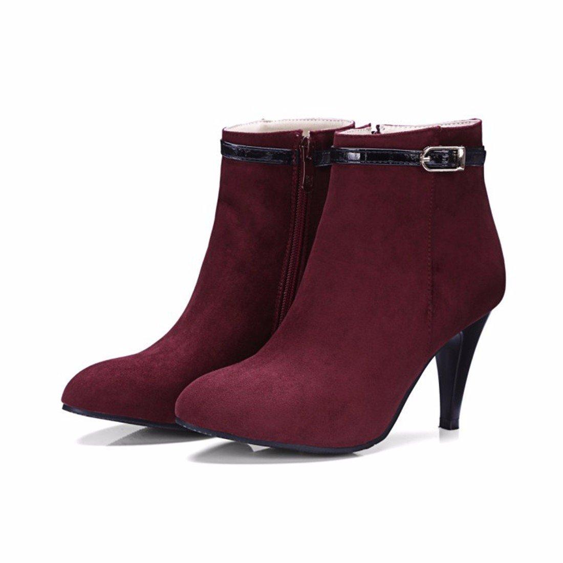 Frau winter Gürtelschnalle Stiefel fein mit mit mit hochhackigen Stiefeln 9555d0
