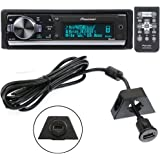 Pioneer DEH-80PRS In-Dash Audiophile CD/MP3/USB Car Stereo Receiver w/ Bluetooth, 28bit DAC & iPod/Pandora Support + PAC USBCBL 6-Feet USB Cable with Mounting Bracket