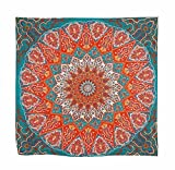 Usstore 1PC Hippie Psychedelic Tapestry Mandala Bedspread Decor Cover Up Shower Beach Towel Swimwear Bathing Suit Kimono Tunic Yoga Mat Fringing (A)