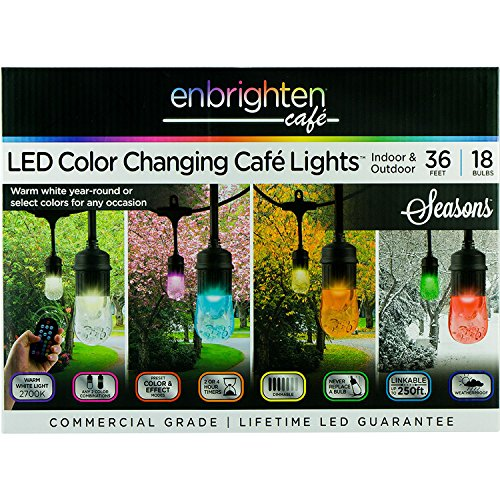 (Enbrighten 36' Seasons Cafe Lights (18 bulbs) A1)
