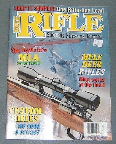 Rifle Sporting Firearms Journal, Volume 29, Number 3, May 1997 (Caribou Cartridges, Cleaning Airguns, Mule Deer Rifles, Winchester High Wall Special, The .22 Rimfire, Springfield M1A Super Match, Kimball Gun Works)