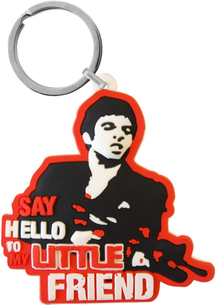 Say Hello To My Little Friend Keychain Scarface