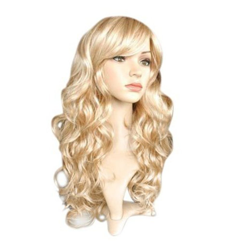 Long Curly Blonde Wig