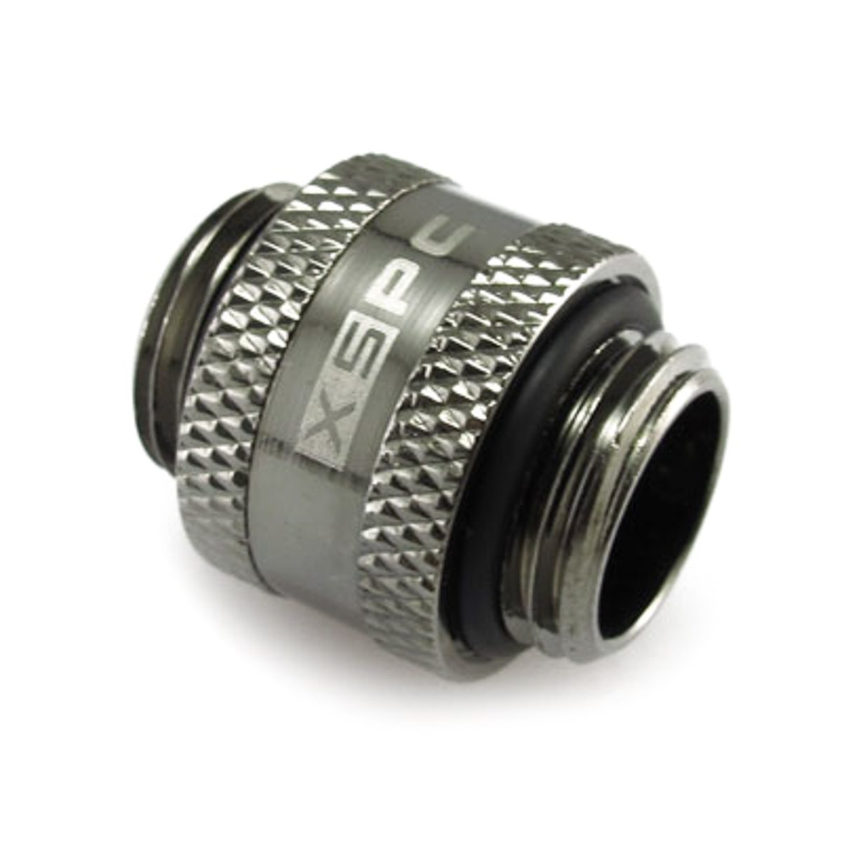 "XSPC G1/4"" Male to Male Rotary Fitting, Black Chrome"