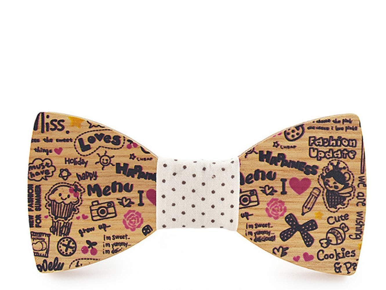 XYXZH corbata Dibujos Animados Niños Impresos Lazo De Madera Tie ...