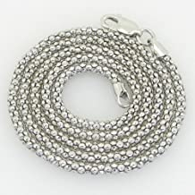 Unisex Italian sterling silver franco box ball wheat popcorn rope fancy chain