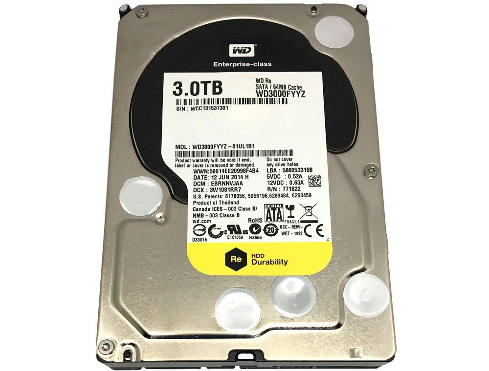 Western Digital RE WD3000FYYZ 3TB 7.2K RPM 64MB Cache 6Gb/s SATA 3.5'' Enterprise HDD