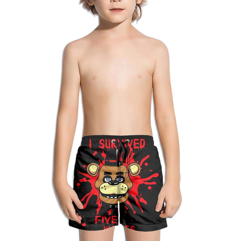 kattyy1 Kids Plain Printed Stretch Board Swim Shorts