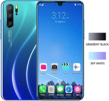 Smartphone, Sistema Android Os 9.1 Sistema De Gota De Agua De 6.3 Pulgadas Pantalla Grande TeléFono MóVil De Ocho NúCleos TeléFono Inteligente 1 + 16G P36 Gradient Blue: Amazon.es: Electrónica