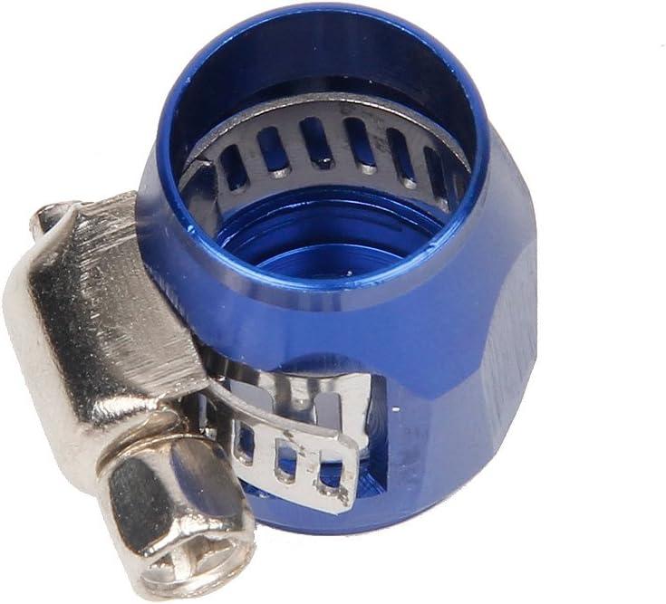 Color AN4 4 AN Collier de serrage pour tuyau en alliage daluminium Bleu