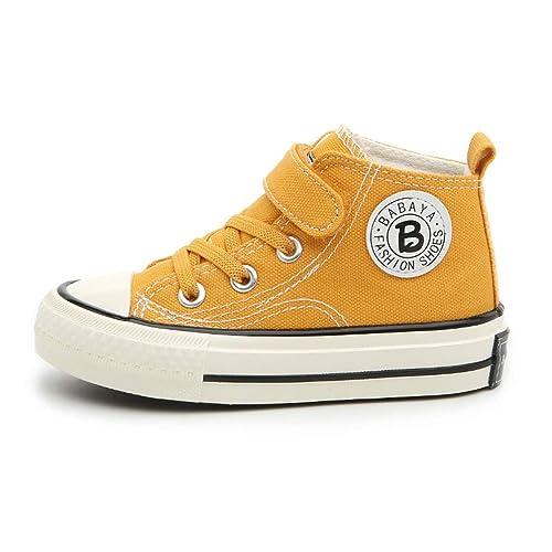 b6b2ad76c Zapatos de Lona para niños Zapatillas para niñas Zapatos para niños Altos  Zapatos Ocasionales Respirables para niños  Amazon.es  Zapatos y  complementos