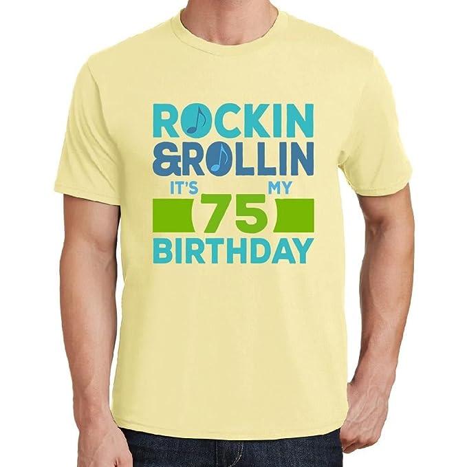 RockinRollin 75 Mens Tshirts Tshirt Men Birthday Gift