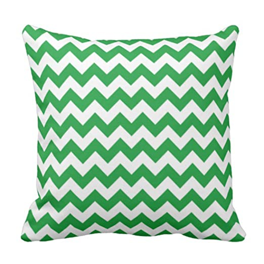 emvency manta funda de almohada Kelly verde Chevron rayas ...