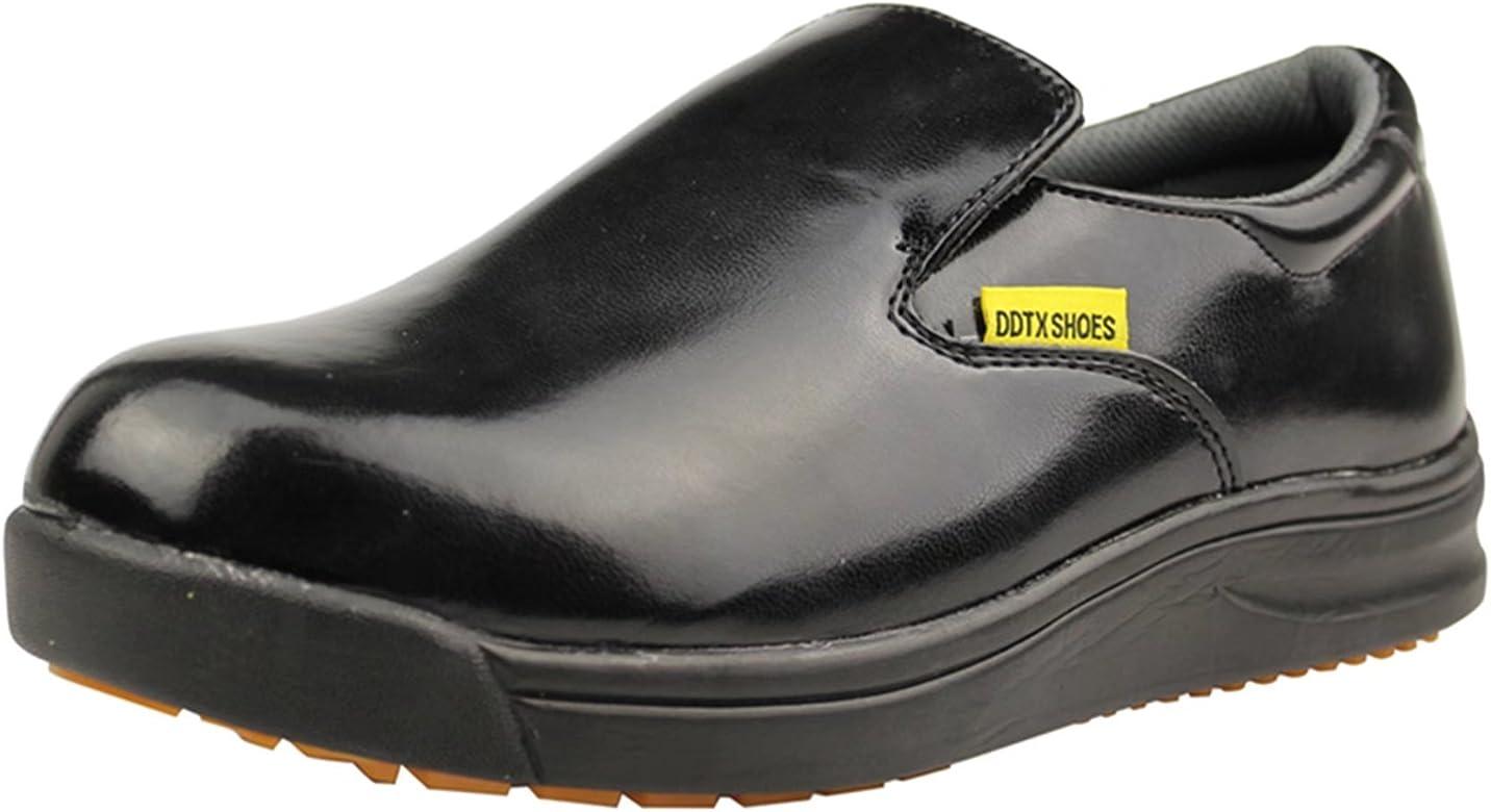 Oil Resistant Slip-on Work Shoes Black