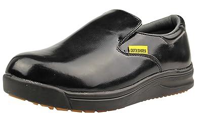 Amazon.com  DDTX Slip Oil Resistant Slip-on Mens Work Shoes Black ... 3c28357f7