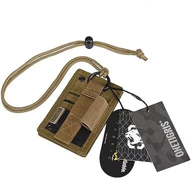 OneTigris Tactical ID Card Holder Hook /& Loop Patch Badge Neck Lanyard Key Ring