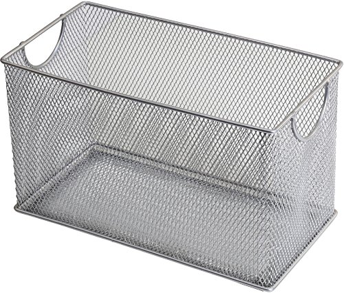 YBM HOME Household Wire Mesh Open Bin Shelf Storage Basket Organizer for Kitchen, Cabinet, Fruits, Vegetables, Pantry Items Toys 1134s (1, 10.75 x 5.5 x 6.5)