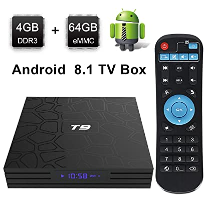 tv box android 8.1 4gb 64 gb 4k  : Android TV Box, HAOSIHD T9 Android 8.1 TV Box,4GB RAM ...