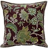 Pillow Decor - Briar Green Floral Throw Pillow 17x17