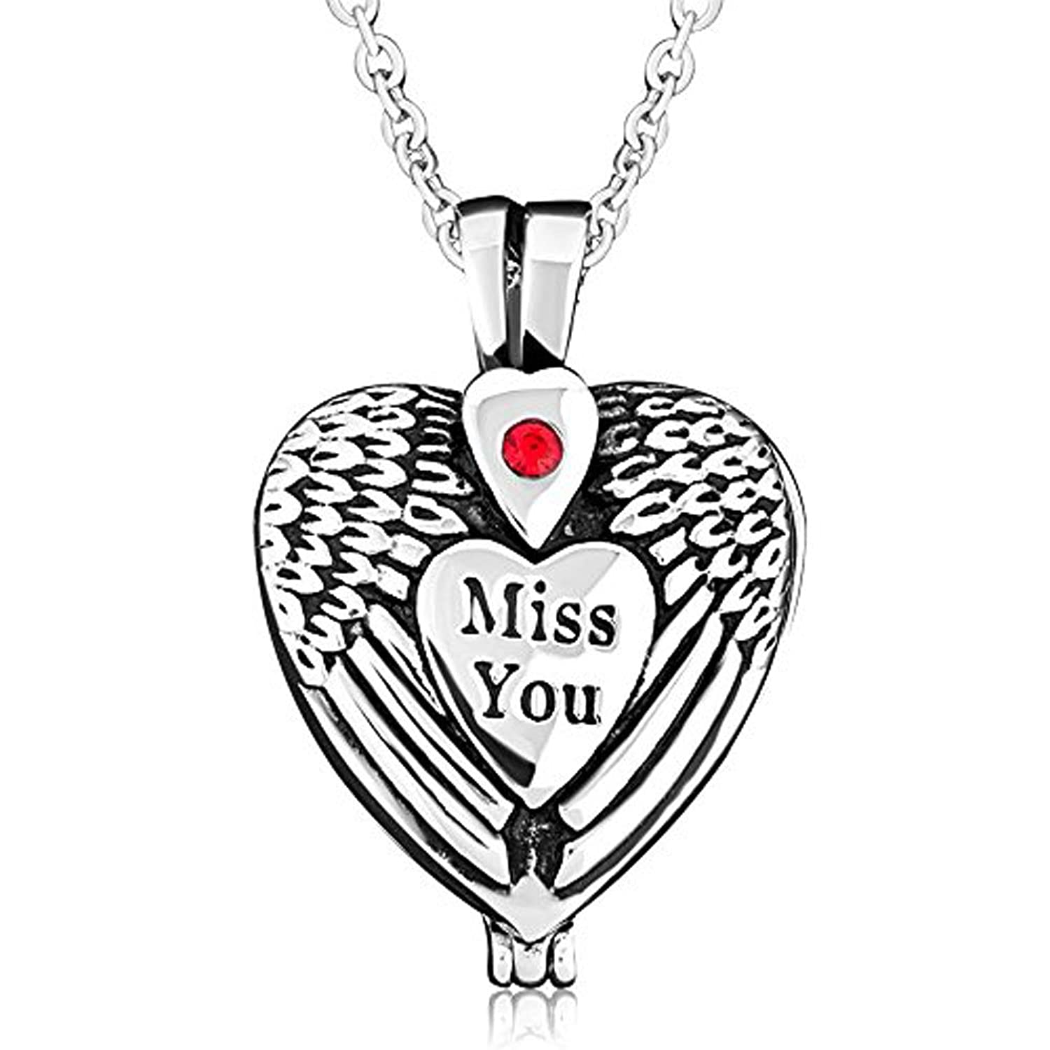 Amazon charmsstory cremation ashes urn necklaces heart miss amazon charmsstory cremation ashes urn necklaces heart miss you angel wings memorial keepsake holder pendant jewelry mozeypictures Images