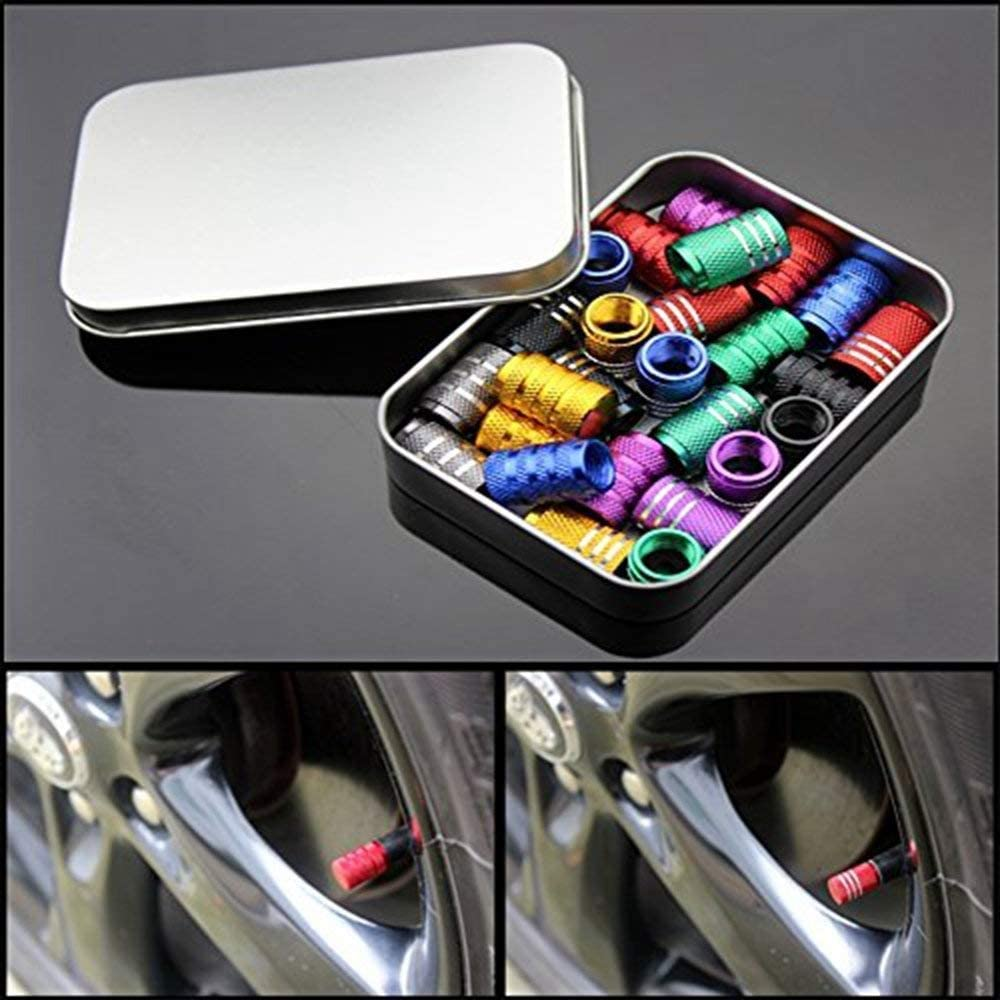 tapas de v/álvulas para evitar la corrosi/ón protege tu v/álvula del v/ástago V/álvula de neum/ático para coches a prueba de fugas ZYFAOZHOU tapas antipolvo carbono, titanio negro
