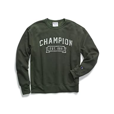 efb3e81b Image Unavailable. Image not available for. Color: Champion Men's Heritage  Fleece Crew, Logo with 1919, Forest Grove, ...