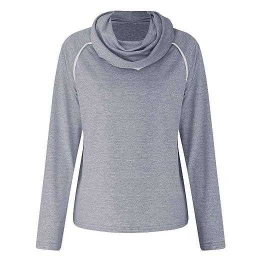ad8982c5aec Hoodies   Sweatshirts Women Turtleneck Hoodie Long Sleeve Sweatshirt  Pullover Sweater Hooded Jumper Women s Clothing