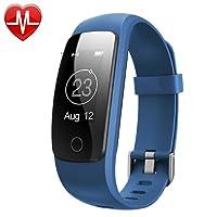 Bracelet Sport Connectée avec GPS,Macrourt Montre Connectée Sport Fitness Tracker d'Activité Etanche IP67 avec Cardiofréquencemètres, Podomètre, Distance, Calorie, Notification Appel & SMS pour IOS Android (Blue)