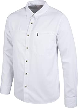 Mountain Warehouse Camisa de Manga Larga Antigua para Hombre Blanco X-Small: Amazon.es: Ropa y accesorios