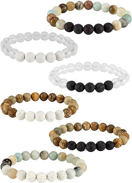 Lava stone beaded bracelet