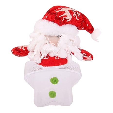 Navidad Papa Noel Pentagrama Botella Plastica Dulces Contenedor De Almacenamiento Caja