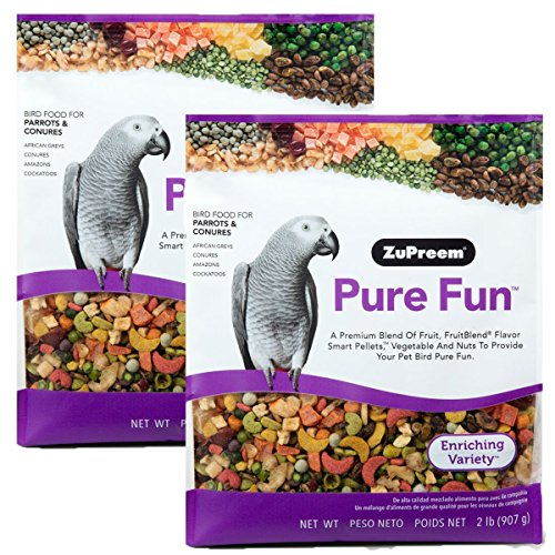 (Pure Fun Bird Food for Parrots & Conures by ZuPreem,NET WT 2LB (907g) (2-Pack))