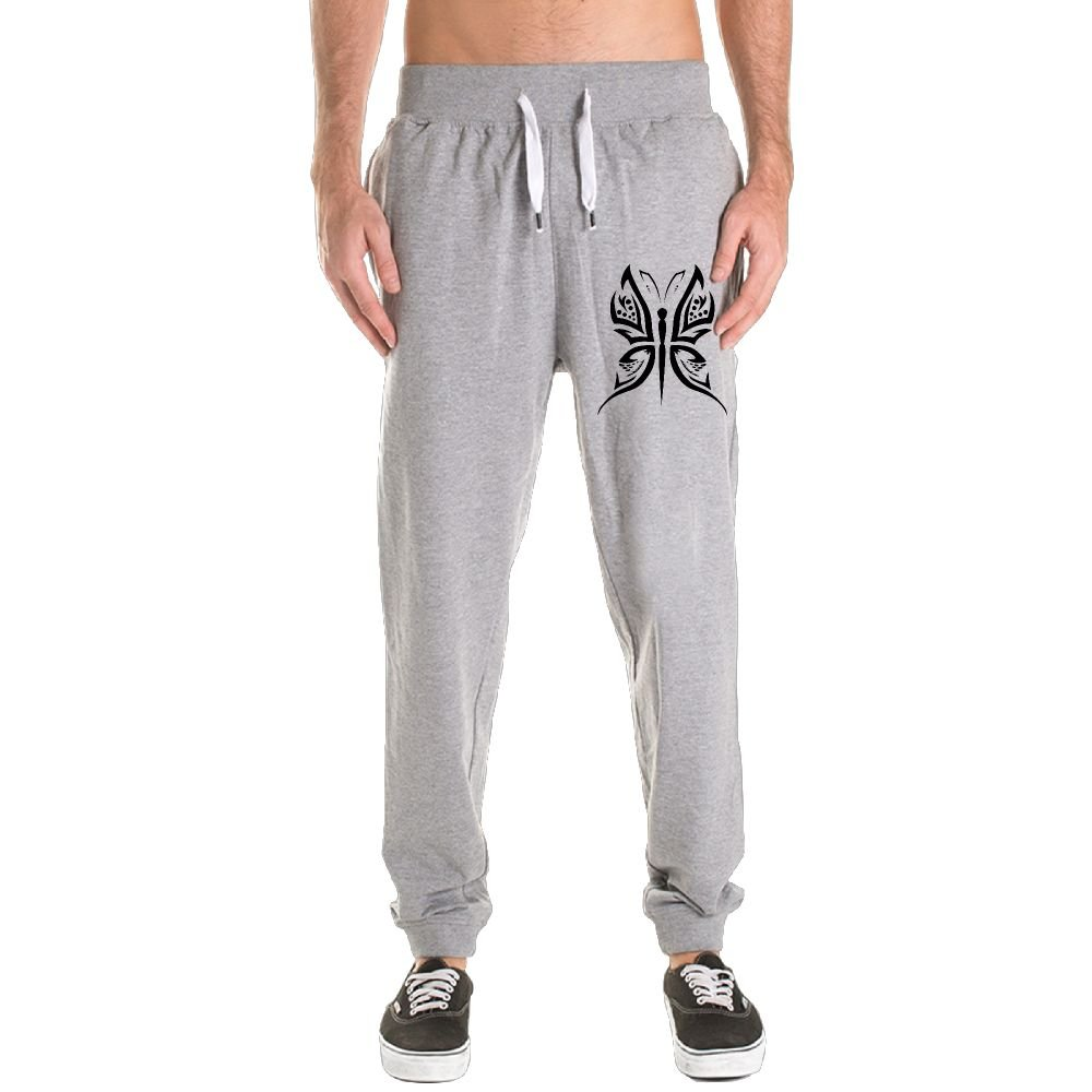 Original Butterfly Men's Jogger Sweatpants Drawstring Elastic Waist Outdoor Running Trousers Pants With Pockets