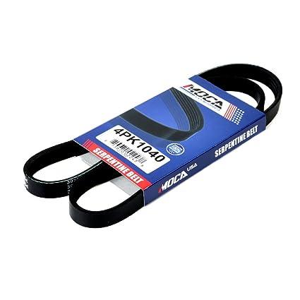amazon com moca 4pk1040 epdm serpentine belt fits 98 02 chevrolet rh amazon com