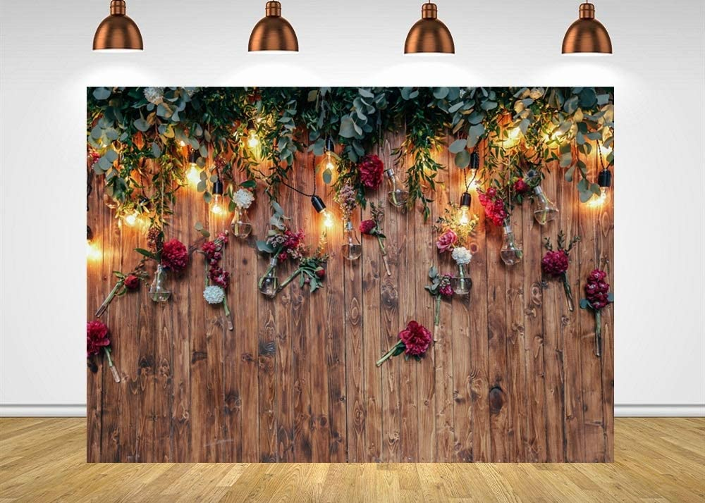 5x5ft,chy323 Levoo Flannel Flowers and Grass Wall Background Banner Photography Studio Boy Girl Birthday Family Party Holiday Celebration Romantic Wedding Photography Backdrop Home Decoration