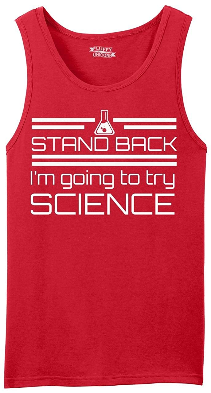 Comical Shirt Mens Stand Back Im Going to Try Science Funny Geek Shirt Tank Top