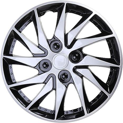 Clispeed Radkappen 14 Zoll Für Felgen Für Auto Fahrzeug Reifen Ersatzzubehör Silber Küche Haushalt