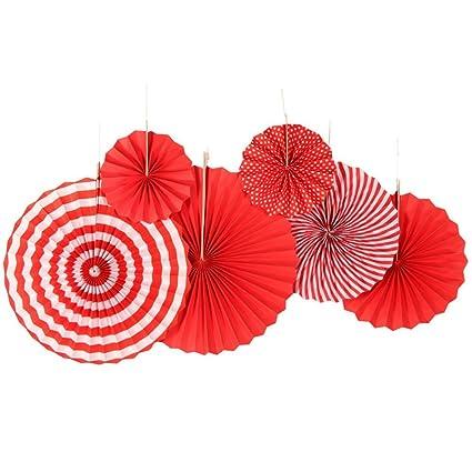 Sunbeauty 6set La Corona Rojo Papierf, Plato de Decoración para Celebrar la Fiesta de Cumpleaños