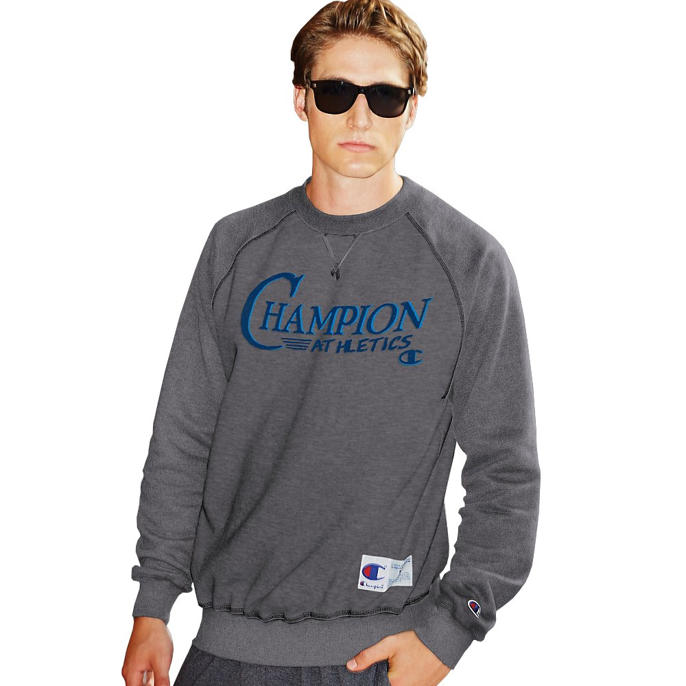 S7954-Champion Retro Mens Graphic Crew