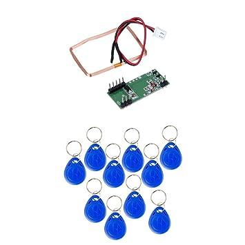 Módulo RFID Lector de Tarjetas de Identificación de 125KHz EM4100 para Arduino + 10pc Tarjeta RFID Keytag Herramientas