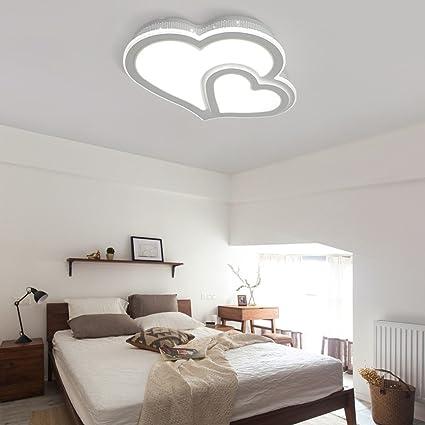 FUFU Iluminación de techo Simple moderno y cálido romántico ...