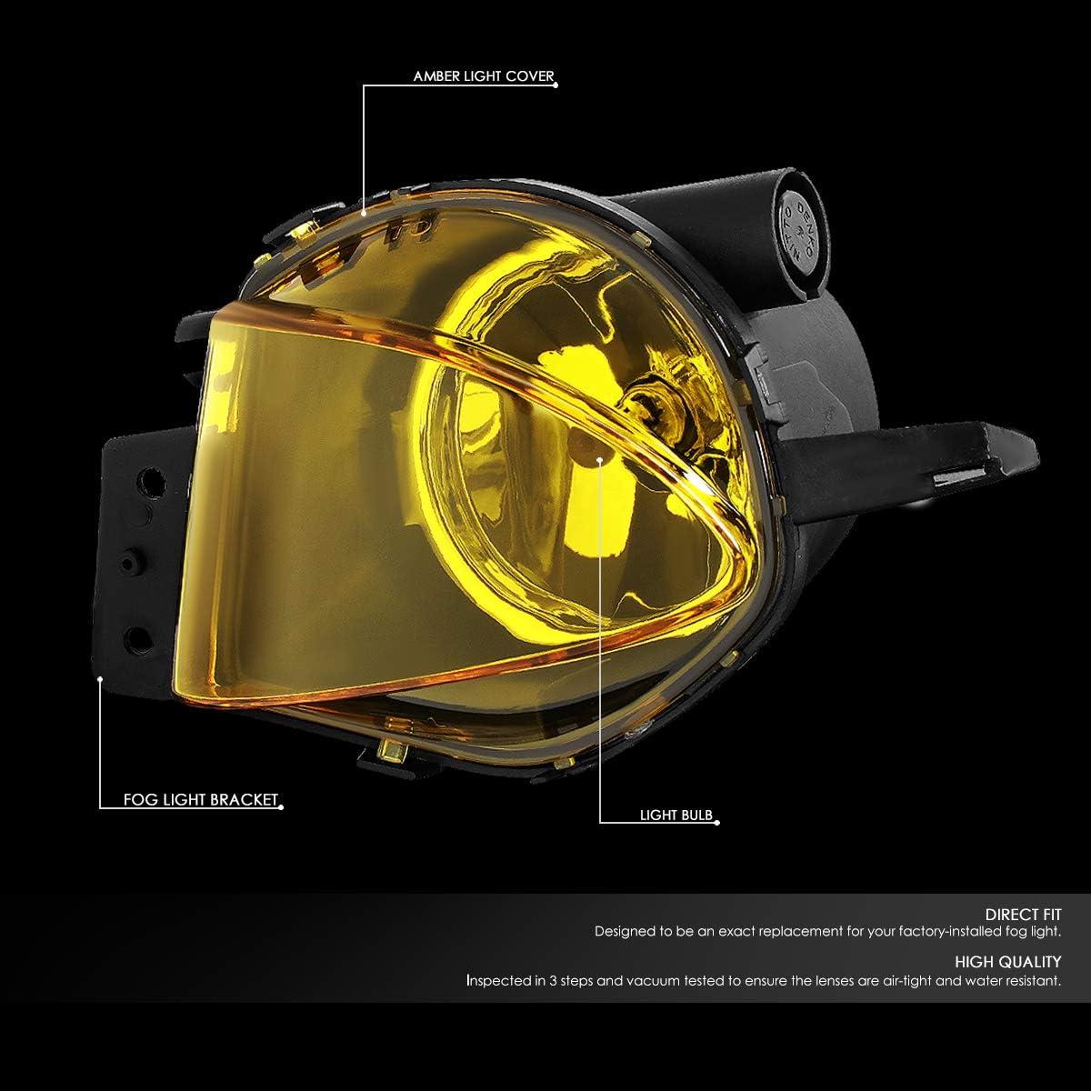 DNA Motoring FL-ZTL-112-AM Pair Amber Lens Front Driving Fog Light Lamps for 07-08 BMW 328i 328xi 2006 BMW 325i 325xi 330i 330xi