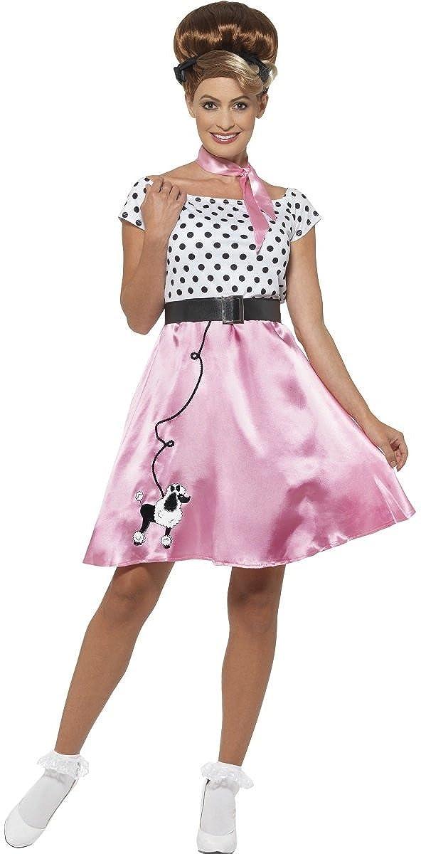Amazon.com: Ladies Circle Skirt 50s 1950s Soda Hop TV Book Film ...