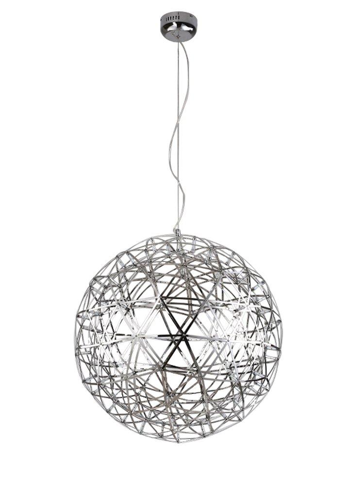 Kiven® Sparking Stars Lights Modern Style Globle Shade Stainless Steel Design Led Pendant Light Hanging Lamp Fixture Suitable for Restaurant,bedroom (Warm white 3000K)